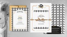 """Faire-part de mariage noir et or, inspiration années 20 années folles, style Gatsby - Faire-part: Nabefabric, collection """"Mistinguett Gatsby"""" - La Fiancée du Panda blog Mariage et Lifestyle"""