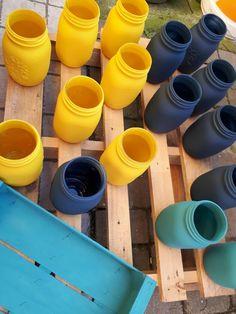 Barattoli Quattro Stagioni Mason jars Fleur chalky look spray Matt  Centerpiece DIY