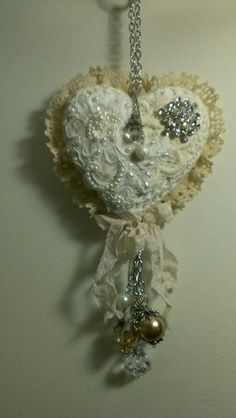 Shabby Heart Wall/Doorknob Hanging by KittysScrapPost for $30.00