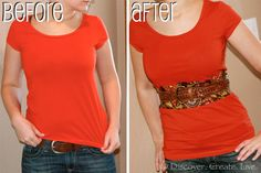 Discover. Create. Live.: How to Lengthen a Shirt thats too Short