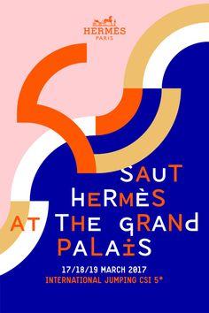 Hermès hosts the Saut Hermès at the Grand Palais Graphic Design Quotes, Graphic Design Layouts, Graphic Design Illustration, Graphic Design Inspiration, Layout Design, Print Design, Design Art, Design Ideas, Dm Poster
