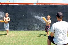 Swap out baseballs for water balloons to take backyard batting practice to the next level.