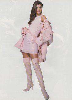 "Helena Christensen in ""Haute Couture Super Star"" by Patrick Demarchelier for Vogue Italia September 1991"