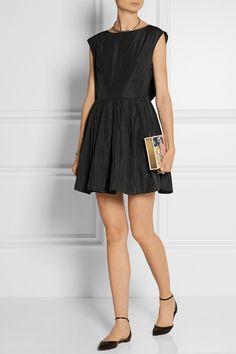Carven | Open-back taffeta mini dress | NET-A-PORTER.COM