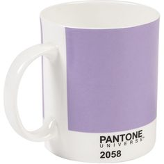 W2 Products Pantone Mug ($15) ❤ liked on Polyvore featuring home, kitchen & dining, drinkware, fillers, drinks, purple, food, magazine, purple mug and porcelain mugs