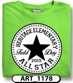 Black and white field day designs are perfect if you want a different shirt color for every grade! Head over to spiritwear.com to start your order now!