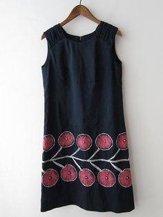 M Perhonen Twins/ Mina Dress Linen Dresses, Cotton Dresses, Shabby Look, Love Clothing, Simple Dresses, Dress Patterns, Cool Outfits, Textiles, One Piece