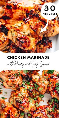 Chicken Thigh Grill Recipes, Grilled Chicken Thighs Marinade, Sauce For Grilled Chicken, Honey Chicken Thighs, Best Chicken Thigh Recipe, Marinated Chicken Recipes, Chicken Marinades, Chicken Recipes With Honey, Asian Food Recipes
