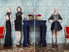 Alice + Olivia Fall 2013 | The two dresses in the left are divine