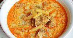 Palóc leves -akár bográcsban készítve Hummus, Pesto, Ethnic Recipes, Food, Essen, Meals, Yemek, Eten