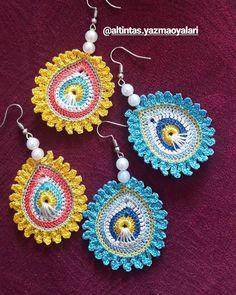 Crochet Keychain Pattern, Crochet Bracelet, Crochet Earrings, Crochet Mandala, Crochet Yarn, Crochet Decoration, Unique Crochet, Scarf Jewelry, Jewelry Patterns