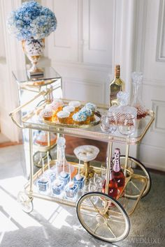 Elegant Champagne & Sweets & Treats Cart  – Bel Ami | Photography by: Purple Tree Photography