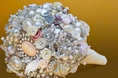Vintage brooch bouquet made by me!