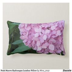 Shop Pink Mauve Hydrangea Lumbar Pillow created by Personalize it with photos & text or purchase as is! Hydrangea Not Blooming, Pink Hydrangea, Purple Flowers, Spring Flowers, Get Well Flowers, Personalized Chocolate, Get Well Gifts, Lumbar Throw Pillow, Flower Pillow