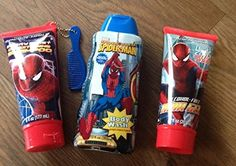 SpiderMan Spiderman 3 Pc Bath Set Shampoo Body Wash Hair Gel >>> Find out more about the great product at the image link.