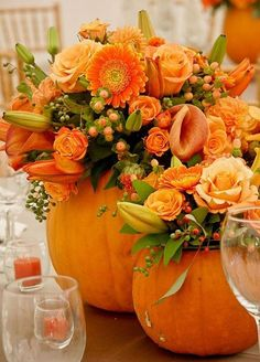 10 Fall Wedding Ideas You Will Fall In Love With: #2. Pumpkins