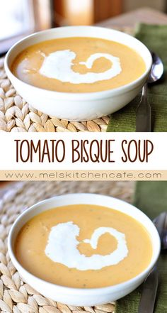 Butternut squash makes up the base of this creamy, healthful, delicious Tomato Bisque Soup.