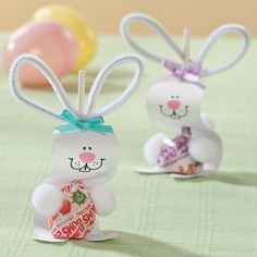 Paper Bunny Pops Craft Idea - OrientalTrading.com