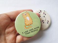 Cute cat badges, cat lovers gift, kawaii cat pin, lapel pin