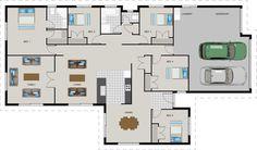 GJ Gardner Homes house designs. Central Otago, Garden Planning, My Dream Home, House Plans, Floor Plans, Exterior, House Design, Flooring, How To Plan