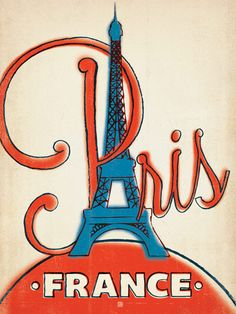 France: Paris, 1960s - Our latest series of classic travel poster art is called the WorldTravel Poster Collection. We were inspired by vintage travel prints from the Golden Age of Poster Design (a glorious period spanning the late-1800s to the mid-1900s.)