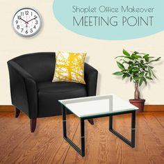 Shoplet #Office #Makeover #Collection 1 - Meeting Point. Impress your guests with a luxurious living area! Enter to win your choice of 3 office collections.