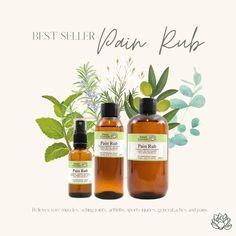 Best selling pain rub #essentialoilblends #painrub Sore Muscles, Essential Oil Blends, Arthritis