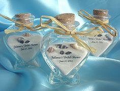 beach sand souvenirs | Personalized Heart Sand & Shells Bottles