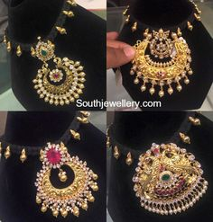 Black Dori Necklace with Changeable Pendants - Indian Jewellery Designs Indian Jewellery Design, Latest Jewellery, Indian Jewelry, Jewellery Designs, Pendant Jewelry, Gold Jewelry, Beaded Jewelry, Black Thread, Silk Thread