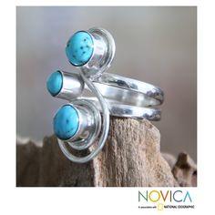 <ul><li>Reconstituted turquoise ring</li><li>Sterling silver jewelry</li><li><a href='http://www.overstock.com/downloads/pdf/2010_RingSizing.pdf'><span class='links'>Click here for ring sizing guide</span></a></li></ul>