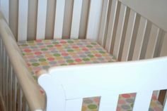 Fitted cot sheet tutorial - first photo