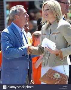 Johan Cruyff and Princess Maxima. The launch of football legend Johan Cruyff's book 'De Middenstip, 14 Cruyff.