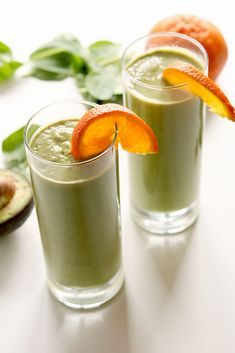 Skin Glowing Orange Avocado Smoothie - The Naughty Nutritionists