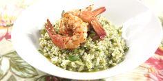 Risoto de forno com pesto e camarão | DigaMaria.com