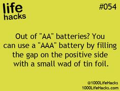 Out of AA batteries?