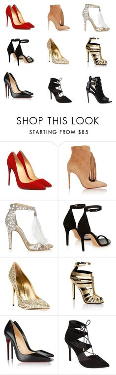 """shoes"" by andreea-vesa on Polyvore featuring Christian Louboutin, Jimmy Choo, Isabel Marant, Sebastian Milano, Lipsy, Topshop and Burberry"