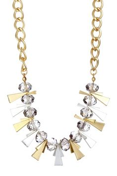 Morgan Ashleigh Faceted Crystal Art Deco Necklace on HauteLook