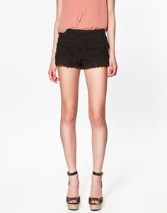 CROCHET SHORTS - Trousers - Woman - ZARA  I want them in every colour.