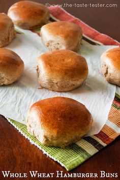 100% Whole Wheat Hamburger Buns... this recipe is a winner!  Soooo good!  We won't be buying the store bought junk anymore!
