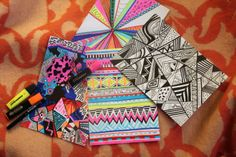 hipster art design trend 2013 2014 style elle fashion textile aztec tribal geometric psychedelic vasare nar designer neon facebook background society6 topshop ikat zigzag