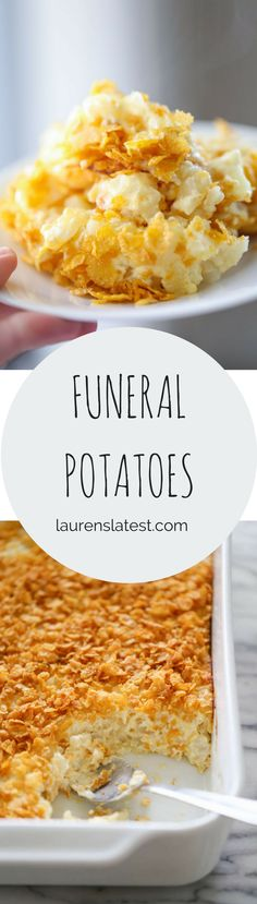 Funeral Potatoes…everyone has a recipe for this popular casserole! Here is my creamy and oniony version!