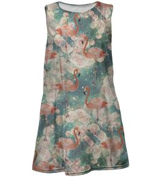 Do you know why flamingos are pink? They are born white and color gain through diet rich in red dye. Tie Dye Skirt, Dress Skirt, Kids Line, Fashion Outfits, Summer Dresses, My Style, Skirts, Pink, Color