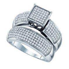 5/8CTW-Diamond MICRO-PAVE BRIDAL RING