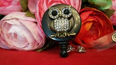 Hootie and the Bling ID Reel on an Alligator Clip by ChristyBows on Etsy