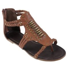 Brinley Co Womens Studded Gladiator Sandals best deal Studded Sandals, Flat Sandals, Gladiator Sandals, Flats, Shoes, Women, Fashion, Loafers & Slip Ons, Moda