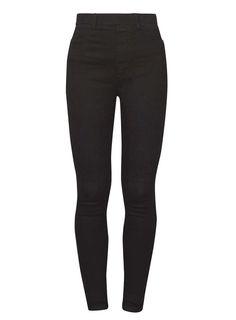 Womens Black 'Eden' High Waist Ultra Soft Jeggings- Black