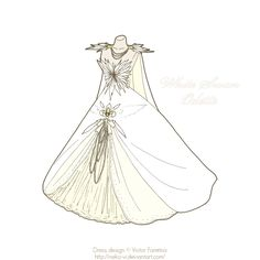 White Swan: Odette by *Neko-Vi on deviantART [how beautiful would this be as a wedding dress? Anime Outfits, Cool Outfits, Fashion Outfits, Black Swan Movie, Disney Princess Fashion, Manga Anime, White Swan, Female Character Design, Fantasy Dress