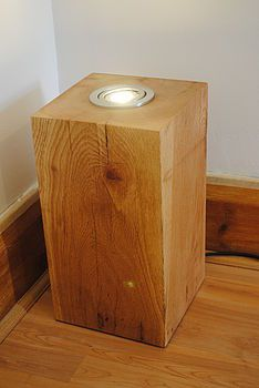 Hand Crafted Solid Oak Up Light