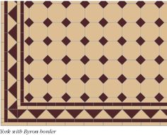 This york pattern emphasises the octagon. Here shown is the more traditional octagon dot design.