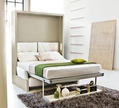 aménagement chambre à coucher; lit abatable; lit relevable